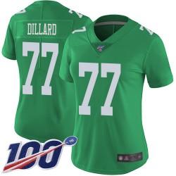 Limited Women's Andre Dillard Green Jersey - #77 Football Philadelphia Eagles 100th Season Rush Vapor Untouchable