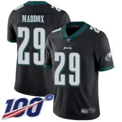 Limited Men's Avonte Maddox Black Alternate Jersey - #29 Football Philadelphia Eagles 100th Season Vapor Untouchable