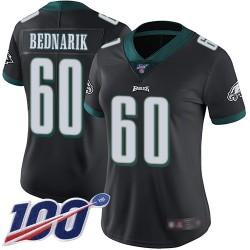 Limited Women's Chuck Bednarik Black Alternate Jersey - #60 Football Philadelphia Eagles 100th Season Vapor Untouchable