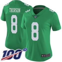 Limited Women's Clayton Thorson Green Jersey - #8 Football Philadelphia Eagles 100th Season Rush Vapor Untouchable