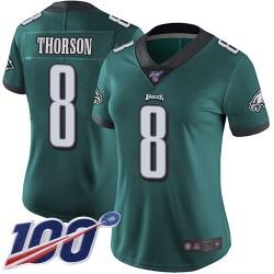 Limited Women's Clayton Thorson Midnight Green Home Jersey - #8 Football Philadelphia Eagles 100th Season Vapor Untouchable
