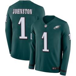 Limited Youth Cameron Johnston Green Jersey - #1 Football Philadelphia Eagles Therma Long Sleeve