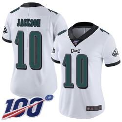 Limited Women's DeSean Jackson White Road Jersey - #10 Football Philadelphia Eagles 100th Season Vapor Untouchable