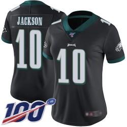 Limited Women's DeSean Jackson Black Alternate Jersey - #10 Football Philadelphia Eagles 100th Season Vapor Untouchable