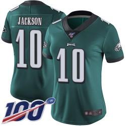 Limited Women's DeSean Jackson Midnight Green Home Jersey - #10 Football Philadelphia Eagles 100th Season Vapor Untouchable