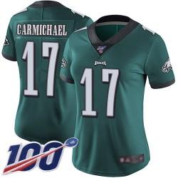 Limited Women's Harold Carmichael Midnight Green Home Jersey - #17 Football Philadelphia Eagles 100th Season Vapor Untouchable