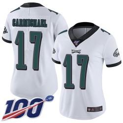 Limited Women's Harold Carmichael White Road Jersey - #17 Football Philadelphia Eagles 100th Season Vapor Untouchable