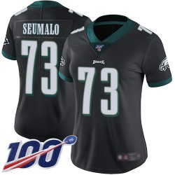 Limited Women's Isaac Seumalo Black Alternate Jersey - #73 Football Philadelphia Eagles 100th Season Vapor Untouchable