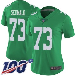 Limited Women's Isaac Seumalo Green Jersey - #73 Football Philadelphia Eagles 100th Season Rush Vapor Untouchable
