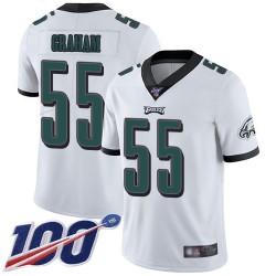 Limited Men's Brandon Graham White Road Jersey - #55 Football Philadelphia Eagles 100th Season Vapor Untouchable