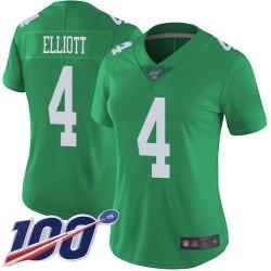 Limited Women's Jake Elliott Green Jersey - #4 Football Philadelphia Eagles 100th Season Rush Vapor Untouchable