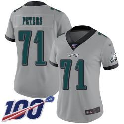 Limited Women's Jason Peters Silver Jersey - #71 Football Philadelphia Eagles 100th Season Inverted Legend