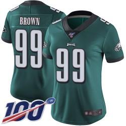 Limited Women's Jerome Brown Midnight Green Home Jersey - #99 Football Philadelphia Eagles 100th Season Vapor Untouchable