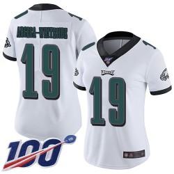 Limited Women's JJ Arcega-Whiteside White Road Jersey - #19 Football Philadelphia Eagles 100th Season Vapor Untouchable