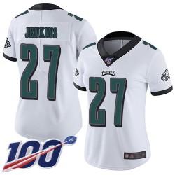 Limited Women's Malcolm Jenkins White Road Jersey - #27 Football Philadelphia Eagles 100th Season Vapor Untouchable