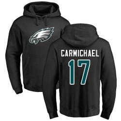 Harold Carmichael Black Name & Number Logo - #17 Football Philadelphia Eagles Pullover Hoodie