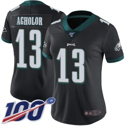 Limited Women's Nelson Agholor Black Alternate Jersey - #13 Football Philadelphia Eagles 100th Season Vapor Untouchable