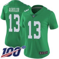 Limited Women's Nelson Agholor Green Jersey - #13 Football Philadelphia Eagles 100th Season Rush Vapor Untouchable