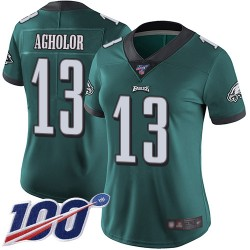 Limited Women's Nelson Agholor Midnight Green Home Jersey - #13 Football Philadelphia Eagles 100th Season Vapor Untouchable