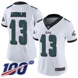 Limited Women's Nelson Agholor White Road Jersey - #13 Football Philadelphia Eagles 100th Season Vapor Untouchable