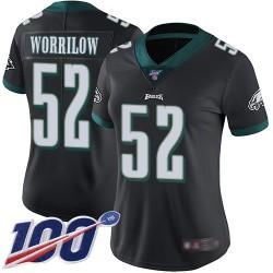 Limited Women's Paul Worrilow Black Alternate Jersey - #52 Football Philadelphia Eagles 100th Season Vapor Untouchable