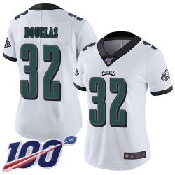 Limited Women's Rasul Douglas White Road Jersey - #32 Football Philadelphia Eagles 100th Season Vapor Untouchable