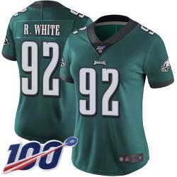 Limited Women's Reggie White Midnight Green Home Jersey - #92 Football Philadelphia Eagles 100th Season Vapor Untouchable