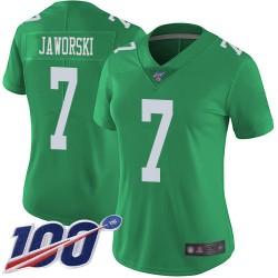 Limited Women's Ron Jaworski Green Jersey - #7 Football Philadelphia Eagles 100th Season Rush Vapor Untouchable
