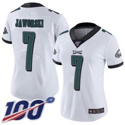 Limited Women's Ron Jaworski White Road Jersey - #7 Football Philadelphia Eagles 100th Season Vapor Untouchable