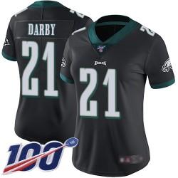 Limited Women's Ronald Darby Black Alternate Jersey - #21 Football Philadelphia Eagles 100th Season Vapor Untouchable