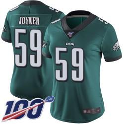 Limited Women's Seth Joyner Midnight Green Home Jersey - #59 Football Philadelphia Eagles 100th Season Vapor Untouchable