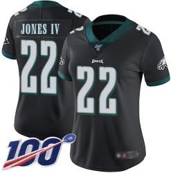 Limited Women's Sidney Jones Black Alternate Jersey - #22 Football Philadelphia Eagles 100th Season Vapor Untouchable