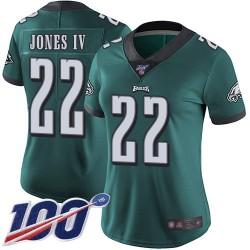 Limited Women's Sidney Jones Midnight Green Home Jersey - #22 Football Philadelphia Eagles 100th Season Vapor Untouchable