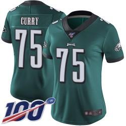 Limited Women's Vinny Curry Midnight Green Home Jersey - #75 Football Philadelphia Eagles 100th Season Vapor Untouchable