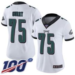 Limited Women's Vinny Curry White Road Jersey - #75 Football Philadelphia Eagles 100th Season Vapor Untouchable