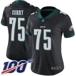 Limited Women's Vinny Curry Black Alternate Jersey - #75 Football Philadelphia Eagles 100th Season Vapor Untouchable