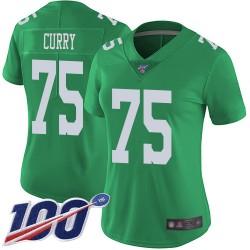 Limited Women's Vinny Curry Green Jersey - #75 Football Philadelphia Eagles 100th Season Rush Vapor Untouchable
