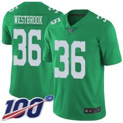 Limited Men's Brian Westbrook Green Jersey - #36 Football Philadelphia Eagles 100th Season Rush Vapor Untouchable