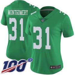 Limited Women's Wilbert Montgomery Green Jersey - #31 Football Philadelphia Eagles 100th Season Rush Vapor Untouchable