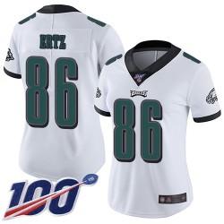 Limited Women's Zach Ertz White Road Jersey - #86 Football Philadelphia Eagles 100th Season Vapor Untouchable