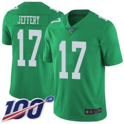 Limited Youth Alshon Jeffery Green Jersey - #17 Football Philadelphia Eagles 100th Season Rush Vapor Untouchable