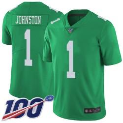 Limited Men's Cameron Johnston Green Jersey - #1 Football Philadelphia Eagles 100th Season Rush Vapor Untouchable
