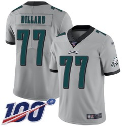 Limited Youth Andre Dillard Silver Jersey - #77 Football Philadelphia Eagles 100th Season Inverted Legend