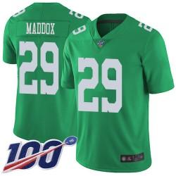 Limited Youth Avonte Maddox Green Jersey - #29 Football Philadelphia Eagles 100th Season Rush Vapor Untouchable