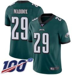 Limited Youth Avonte Maddox Midnight Green Home Jersey - #29 Football Philadelphia Eagles 100th Season Vapor Untouchable