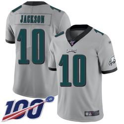 Limited Youth DeSean Jackson Silver Jersey - #10 Football Philadelphia Eagles 100th Season Inverted Legend