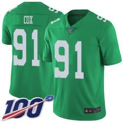 Limited Youth Fletcher Cox Green Jersey - #91 Football Philadelphia Eagles 100th Season Rush Vapor Untouchable