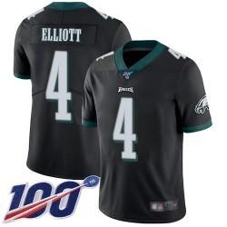 Limited Youth Jake Elliott Black Alternate Jersey - #4 Football Philadelphia Eagles 100th Season Vapor Untouchable
