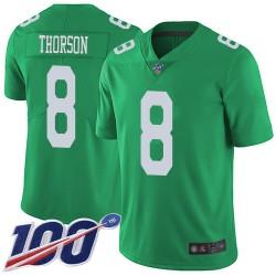 Limited Men's Clayton Thorson Green Jersey - #8 Football Philadelphia Eagles 100th Season Rush Vapor Untouchable