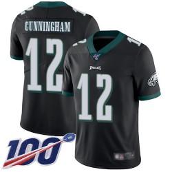 Limited Youth Randall Cunningham Black Alternate Jersey - #12 Football Philadelphia Eagles 100th Season Vapor Untouchable